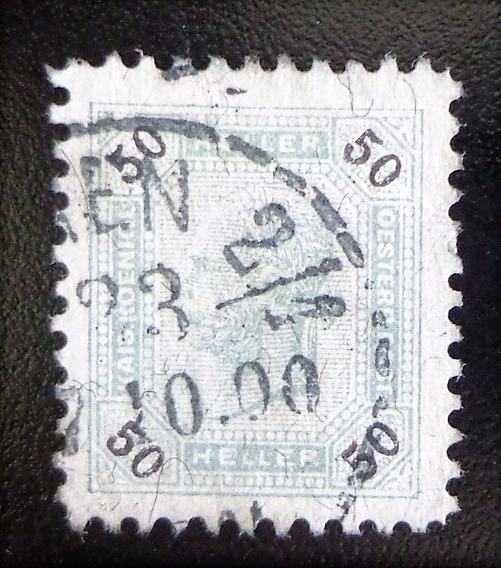 Austria, Sello Yv. 75a 50 H Dent 10 1-2 1899 Usado L10399