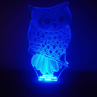 Lámparas Led Grabado En Acrílico