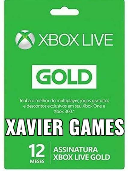 Live Gold 12 Meses Xbox One 25 Digitos
