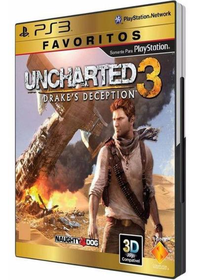 Uncharted 3 Em Português Para Ps3 Lacrado! Mídia Física!