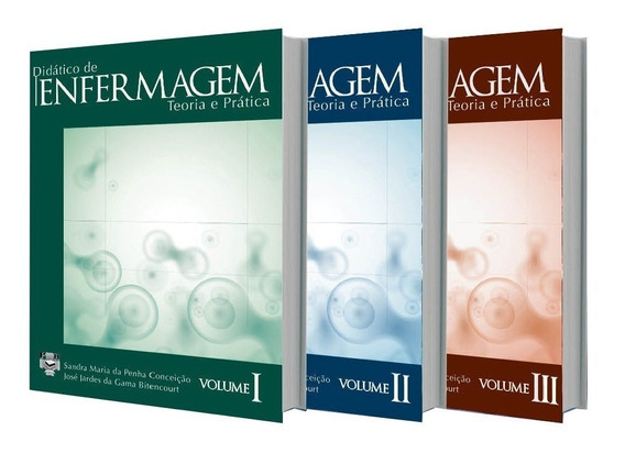 Didático De Enfermagem - Teoria E Prática - 3 Volumes - Novo
