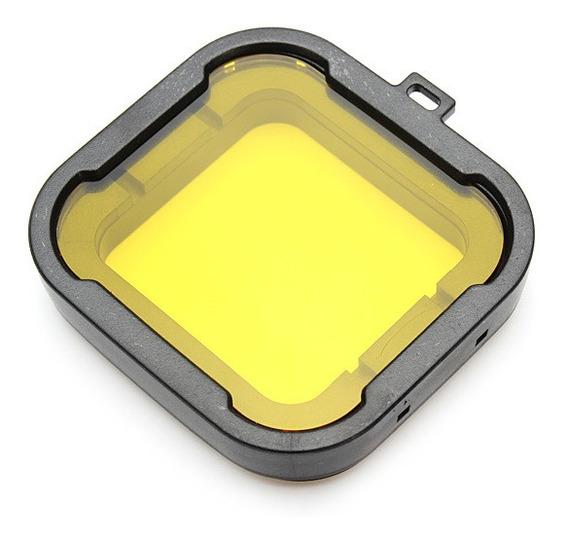 Filtro Mergulho Amarelo Gopro Hero3+ Hero4 - Caixa 40 Metros