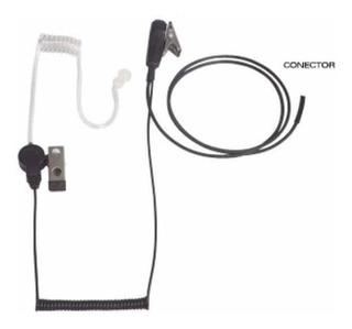 Micrófono Audífono De Tubo Acústico Para Radio Portátil Icom