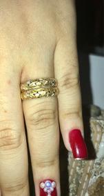 Anéis De Ouro Com Detalhes Em Ouro Rosa E Ouro Branco!