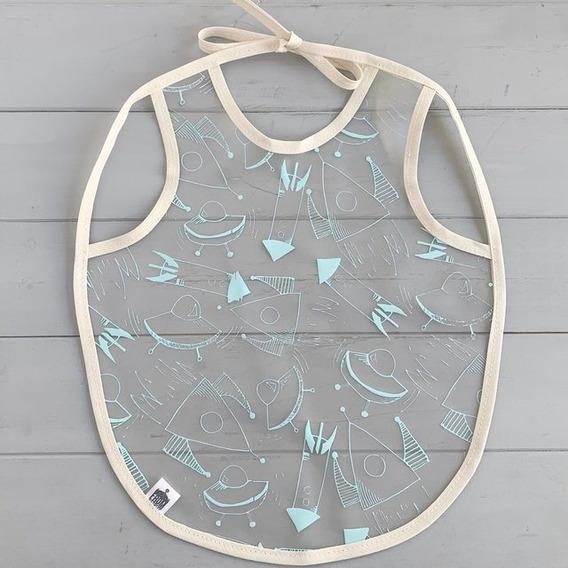 Babero Plástico Transparente Estampados Bebes Baby Shower