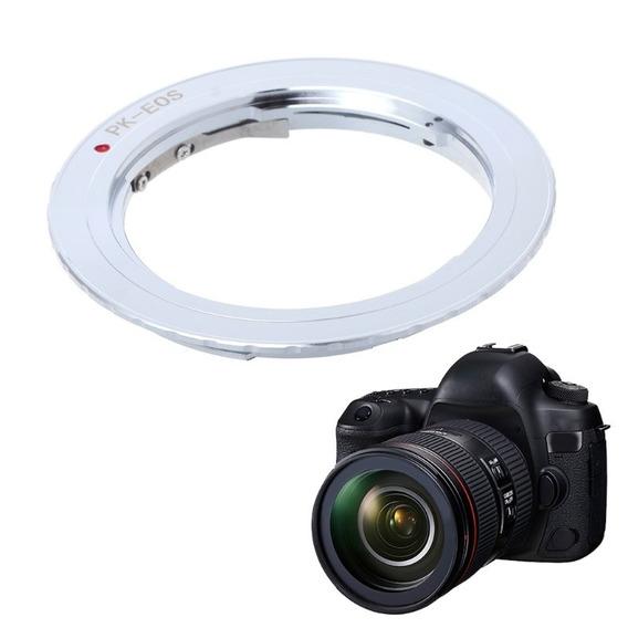 Anel Adaptador Lente Pentax K Pk-eos Canon Ef Eos-mount