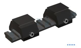 Kit 2 Conversor Trilho 22mm Para 11mm Luneta Red Dot Mira