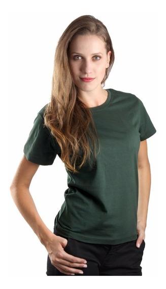Kit 7 Camisetas Baby Look Feminina Algodão Lisa Blusinha