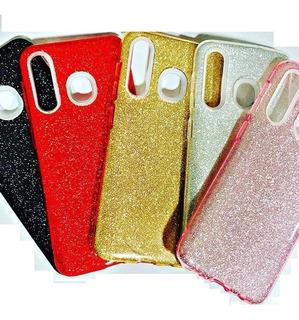 Estuche Forro Protector Goma Escarchada Glitter Samsung A20