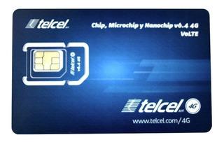 Chip Express Telcel Sim 4g Lte V6.4 Monterrey Nuevo Leon Lad