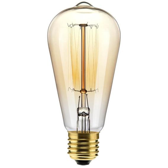 Lâmpada Filamento De Carbono Retro Thomas Edson St64 40w