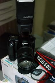 Canon 60d Kit Completo Flash Lente Grip Tudo Na Caixa