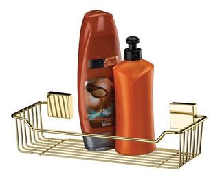 Suporte Porta Shampoo Sabonete Parede Dourado 7501dd Ouro