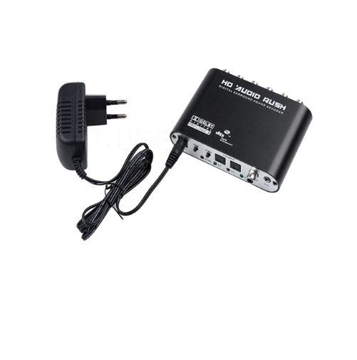 Conversor Áudio Digital Dts Ac3 Pra Analógico 5.1 Ou Estéreo