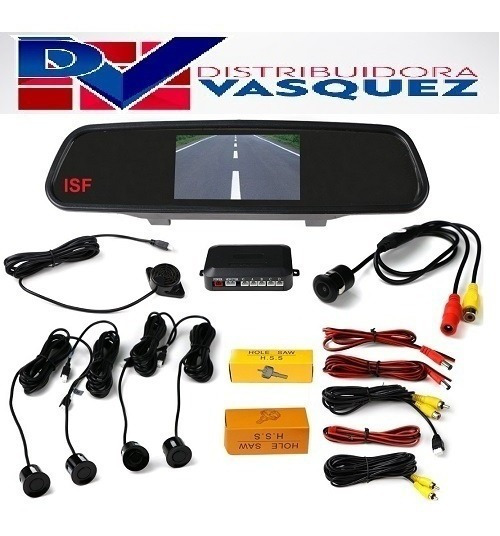 Kit De Pantalla Retrovisor + Camara Retro + Sensor De Retro