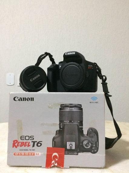 Vendo - Câmera Profissional Cânon Eos Rebel T6 + Lente 18-55