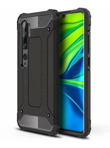 Capa Anti-impacto Hybrid Rugged Para Mi Note 10 Pro - Preta