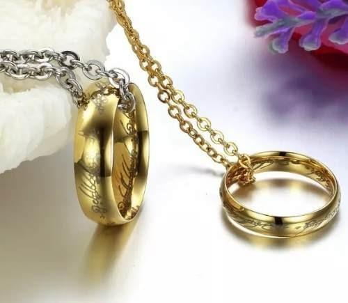 Anel Senhor Dos Anéis - Tungstênio Folheado A Ouro