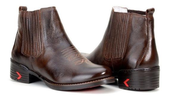 Bota Texana Masculina Cano Médio Couro Confortável 4c869caf