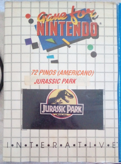 Cartucho 72 Pinos - Jurassic Park - Nintendinho Nes 8 Bits
