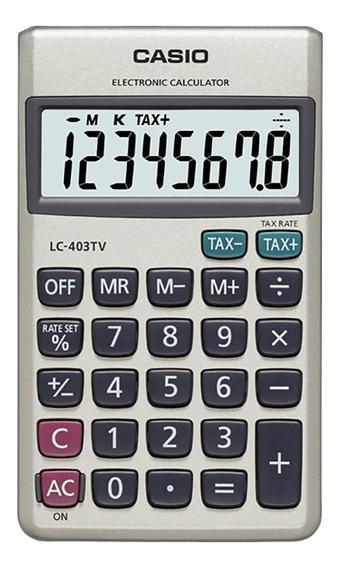 Calculadora Bolsillo Casio Lc-403tv Garantia Oficial 2 Años