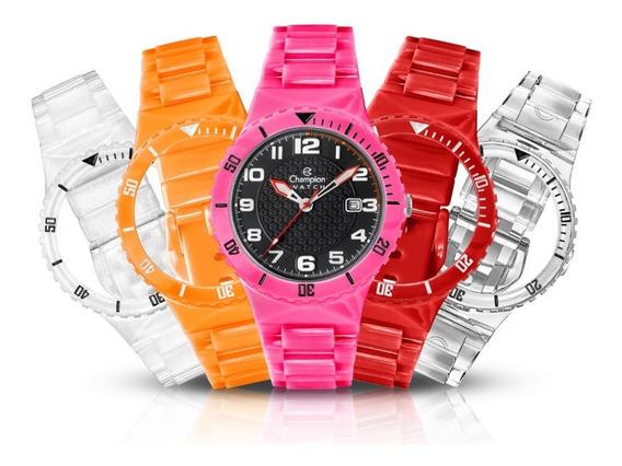 Relógio Champion Infantil Cp38086x Troca Pulseiras Exclusivo