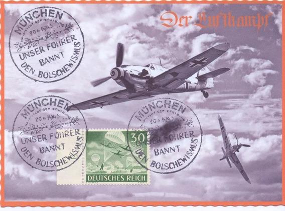 Replica Cartão Postal - Der Luftkampf - Reprint - Wwii