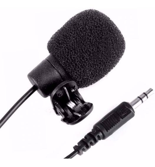 Microfone De Lapela 3,5mm Sem Ruídos Vídeo Confências Stereo