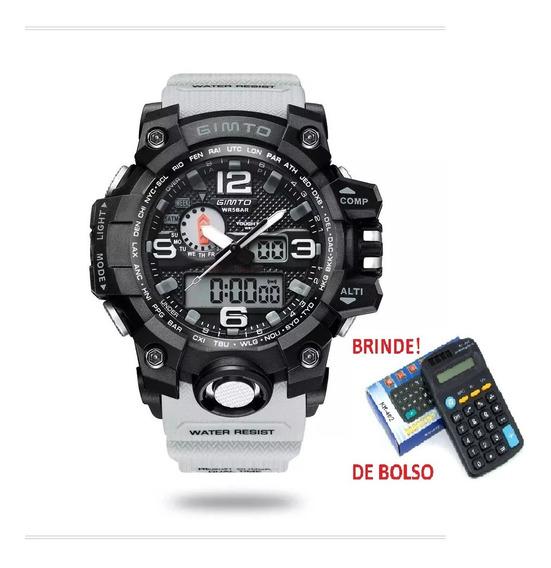 Relógio Gimto Militar Gm 303 5atm + Brinde