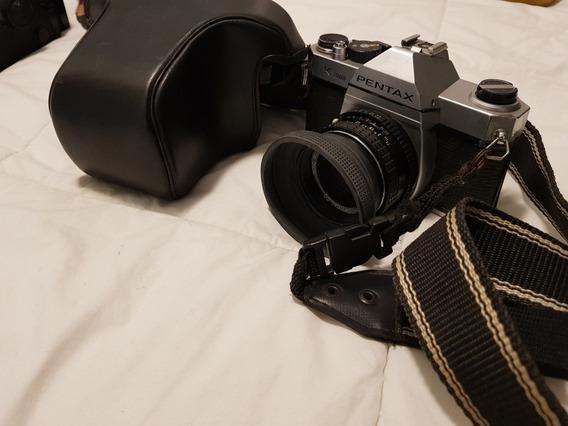 Pentax K1000 + Lente 50mm F/2 C/ Case De Couro