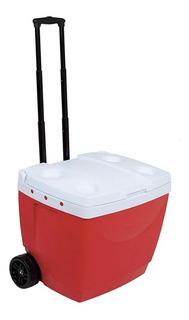 Caixa Térmica Cooler 42 Litros C/ Rodas Praia Piscina Mor