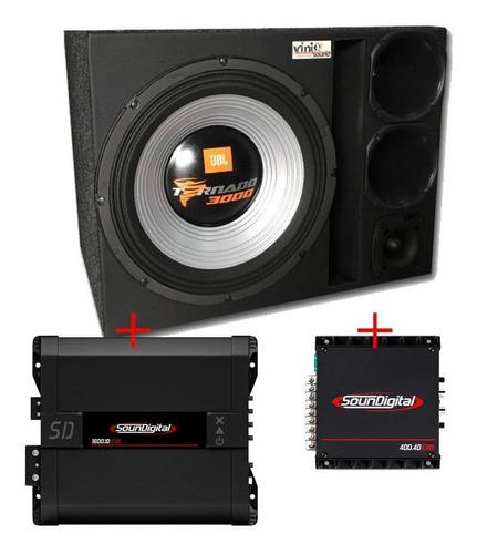 Caixa Trio  Tornado 15 + D250x + St200 + Módulos Soundigital