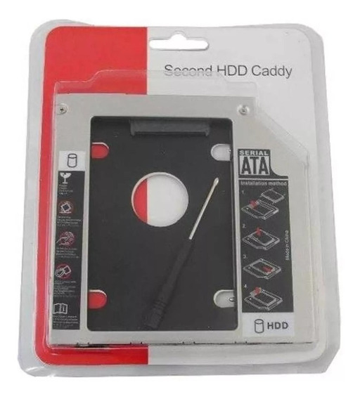 Adaptador Caddy Para Segundo Hd Ou Ssd 2.5 Sata 12,7mm