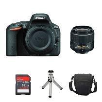 Câmera Nikon D5500 Com Lente 18-55mm + 32gb + Bolsa + Tripé