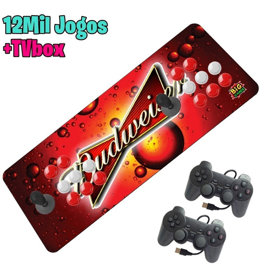 Arcade Fliperama Portátil Kit 12000 Controle Psx Sem Juros