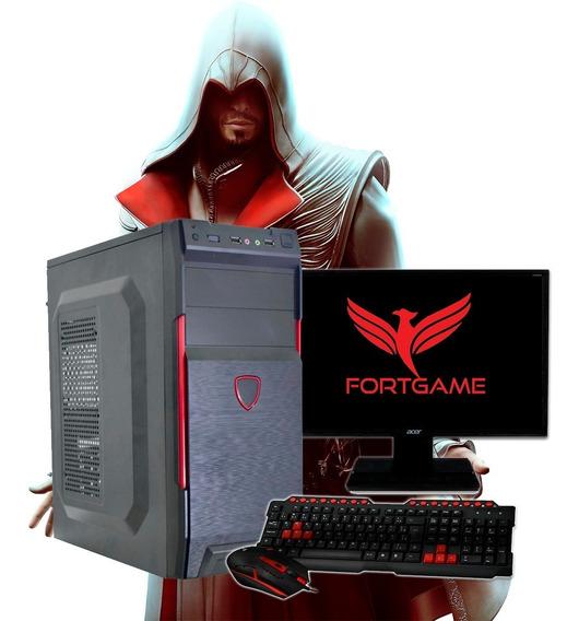 Pc Gamer Pentium 3.7ghz Monitor 4gb Ssd 120gb Placa De Vídeo