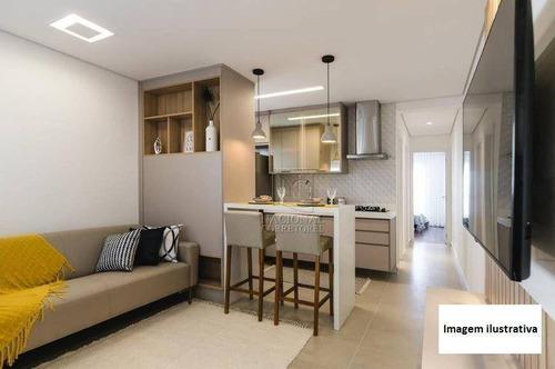 Apartamento Com 2 Dormitórios À Venda, 53 M² Por R$ 345.000,00 - Parque Das Nações - Santo André/sp - Ap12571