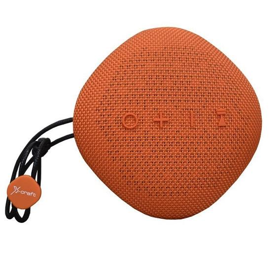 Caixa De Som Bluetooth X-craft X6 Laranja 6w À Prova De Àgua