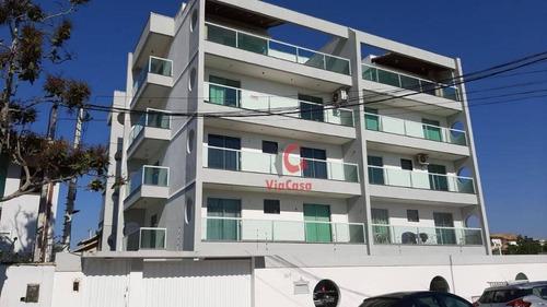 Apartamento Com 2 Quartos Sendo 1 Suíte À Venda, 72 M² Por R$ 295.000 - Recreio - Rio Das Ostras/rj - Ap1413