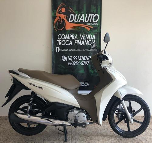 Honda Biz 125 2019 Branca Com Banco Caramelo