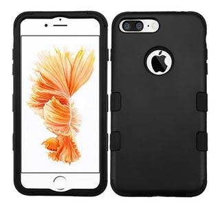 Funda Uso Rudo Silicon iPhone 7 Plus / iPhone 8 Plus Negro