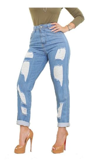 Calça Feminina Mom Jeans Hot Pant 36 Ao 44 Roupa Feminina