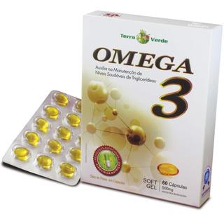 Omega 3 60 Cápsulas De 500mg Soft Gel Terra Verde