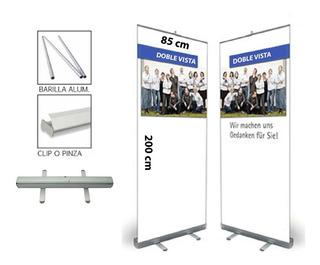 Banner Display Publicitario Roll Up Doble 85x200 Cm C/bolsa
