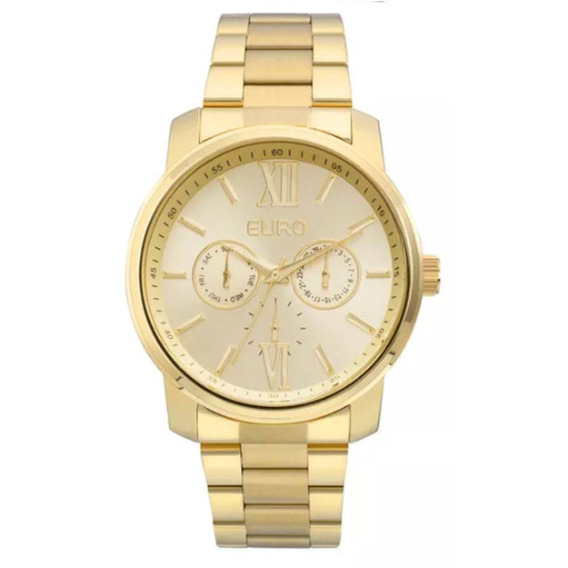 Relógio Euro Feminino Dourado Eu6p29agu/4d