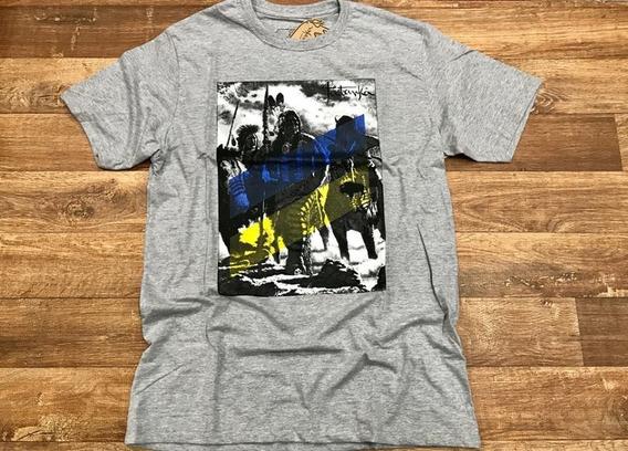 Camiseta Country Masculina Tatanka Cinza Mescla Original