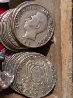 Monedas De Plata 1 Sucre 1928 5 Gramos Ley 720