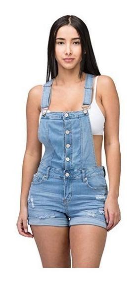 Overol Short Mezclilla Mujer Talla L Marca Lover Brand Fash