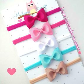 Faixa Cabelo Bebê Menina Com Laço - Kit Com 5 Tiarinha Bebe