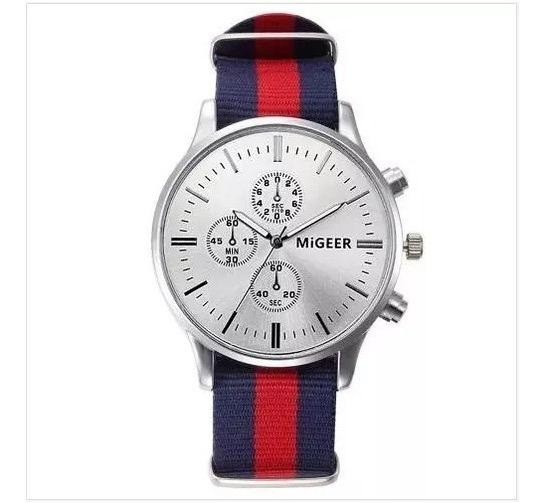 Relógio Militar Masculino Migeer - Quartzo